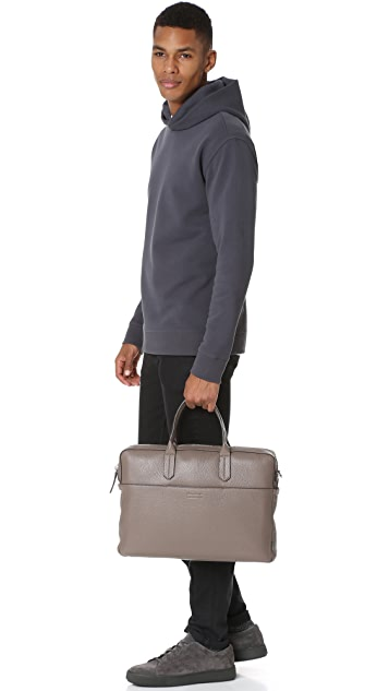 Uri Minkoff Pebbled Leather Liam Briefcase