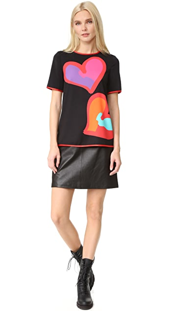 Boutique Moschino Short Sleeve Printed Blouse