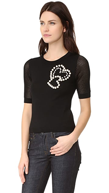Boutique Moschino Short Sleeve Sweater