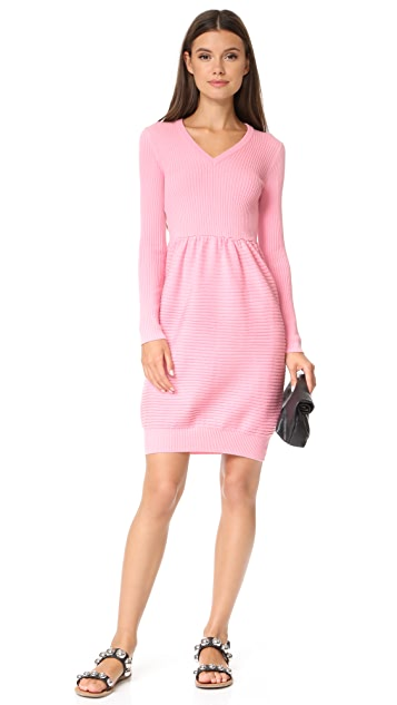 Boutique Moschino Long Sleeve V-Neck Dress
