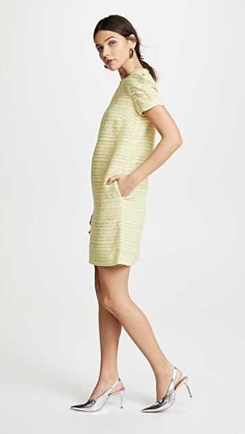 Boutique Moschino Tweed Short Sleeve Dress
