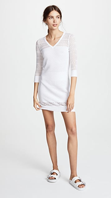 Boutique Moschino 3/4 Sleeve Crochet Dress