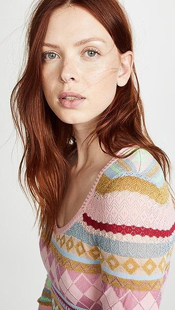 Boutique Moschino Patterned Midi Dress