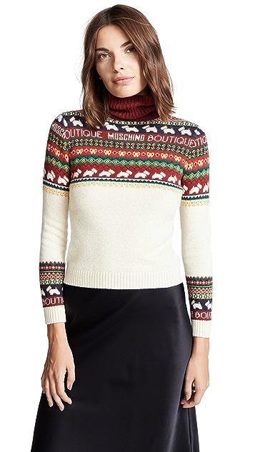 Boutique Moschino Dog Fair Isle Sweater