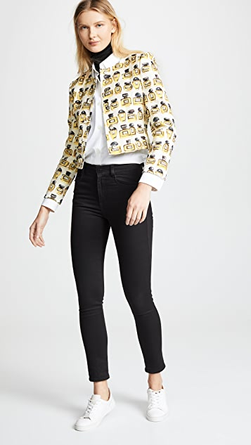 Boutique Moschino Perfume Print Jacket