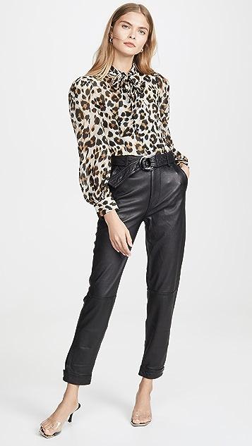 Boutique Moschino 豹纹女式衬衫