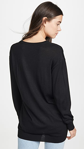 Boutique Moschino Long Sleeve Sweater Dress