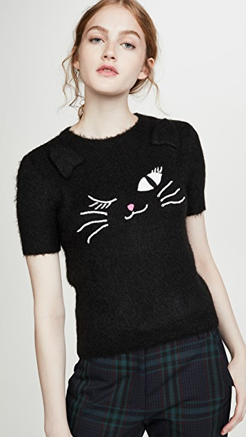 Boutique Moschino 猫咪 T 恤