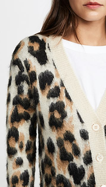 Boutique Moschino Leopard Cardigan