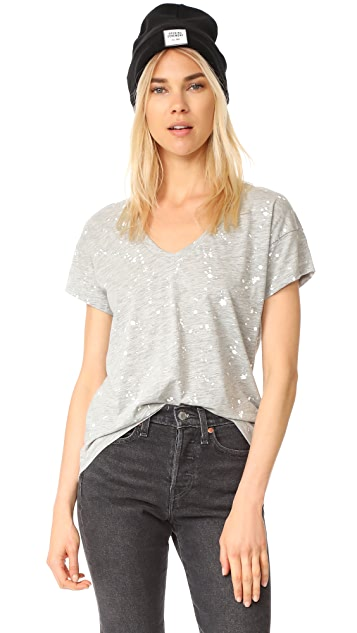 bobi V Neck High Low Tee
