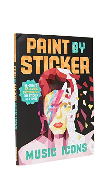 Books with Style Paint By Stickers: Music Icons
