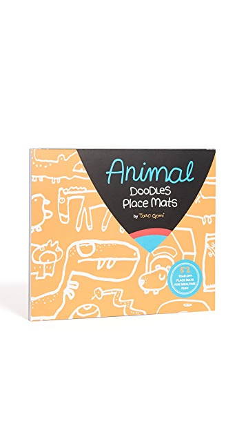 Books with Style Animal Doodles Place Mats