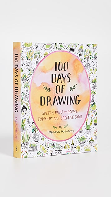 Books with Style 100 Days of Drawing Sketchbook