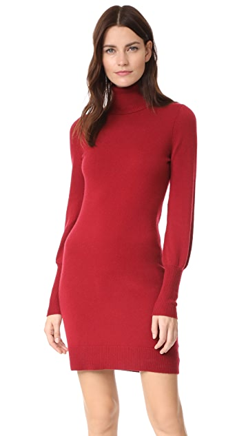 Bop Basics Cashmere Blouson Sleeve Turtleneck Dress