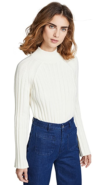 Bop Basics Wide Rib Turtleneck Sweater