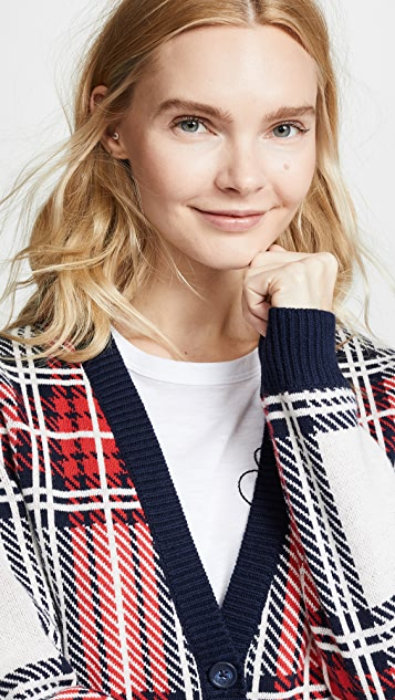 Bop Basics Tartan Plaid Cardigan