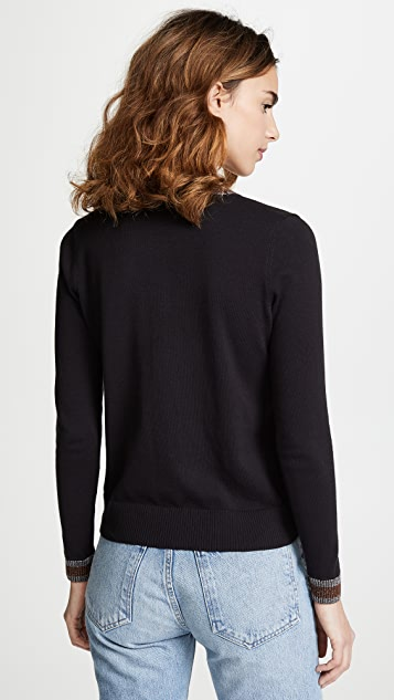 Bop Basics Metallic Trim Cardigan