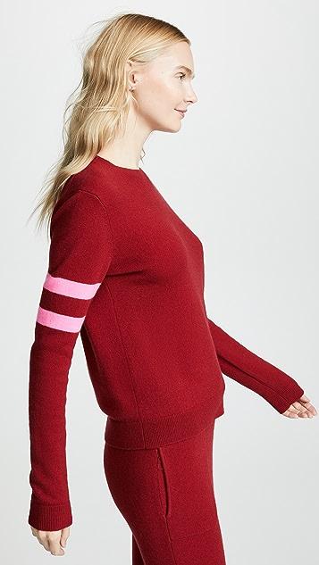 Bop Basics Кашемировый пуловер в полоску в студенческом стиле