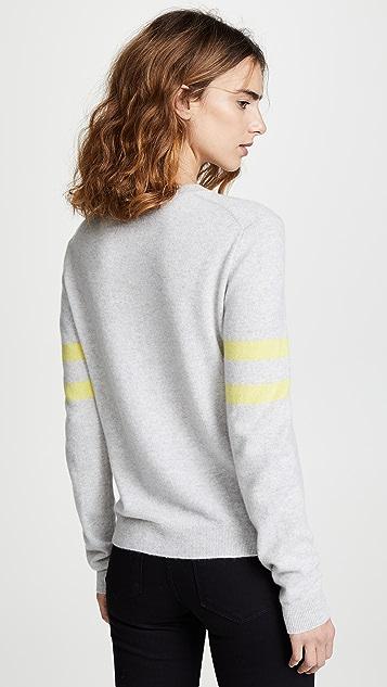 Bop Basics Cashmere Varsity Stripe Pullover
