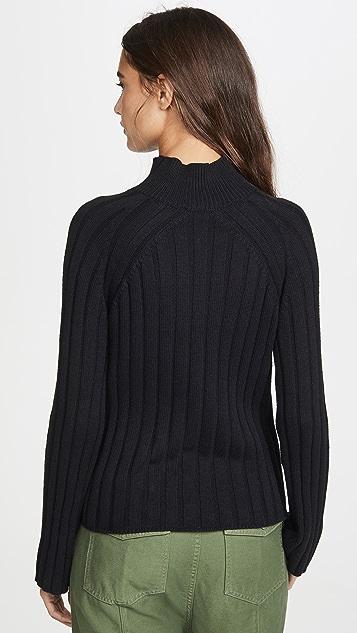 Bop Basics Wide Rib Turtleneck Sweater
