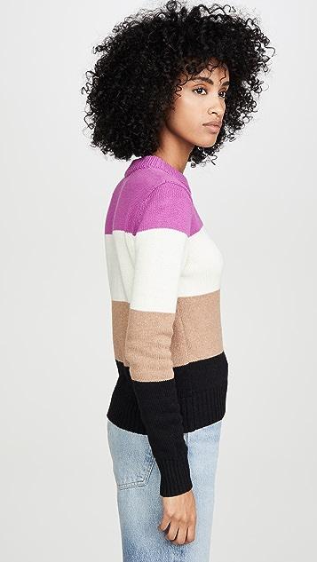 Bop Basics Wide Stripe Roll Neck Sweater