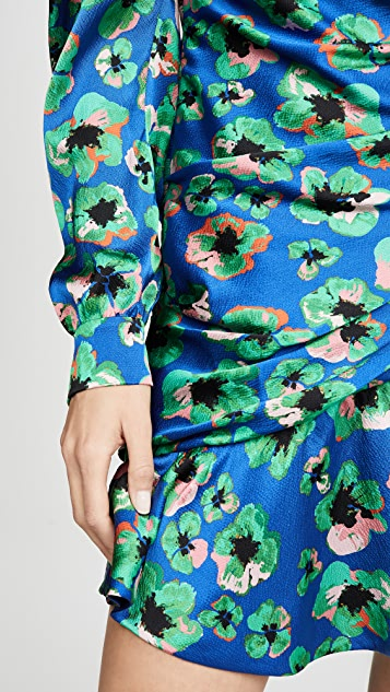 Borgo de Nor Christina Leopard Floral Mini Dress