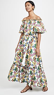 Mona Off The Shoulder Maxi Floral Dress