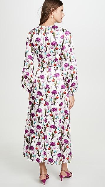 Borgo de Nor Elitsa Satin Jacquard Tulip Field Dress