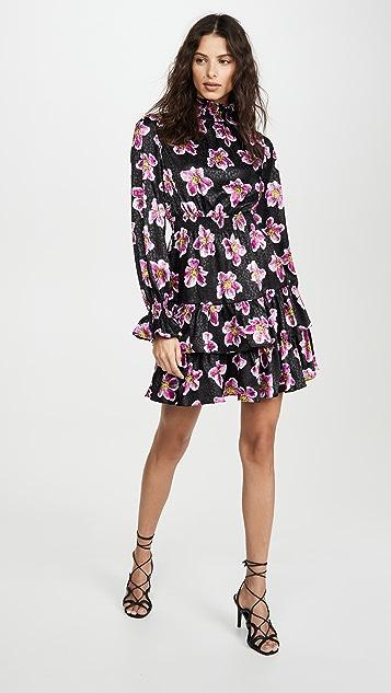 Borgo de Nor Платье Yulia Winter Rose из атласного жаккарда
