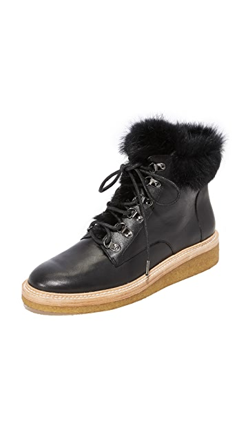 Botkier Winter Fur Hiker Boots
