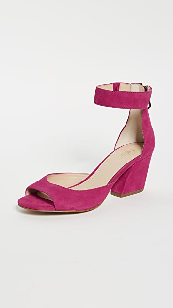 Botkier Pilar Ankle Strap Sandals - Charged Pink