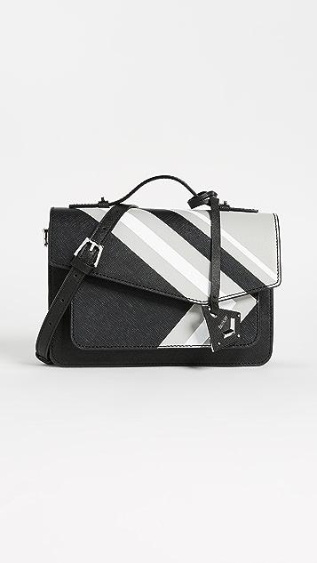 Botkier Cobble Hill Cross Body Bag - Black Stripe