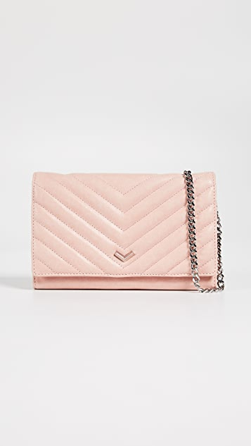 Botkier Soho Quilted Wallet on a Chain - Blush