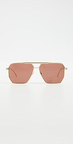 Bottega Veneta - Geometric Navigator Sunglasses