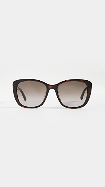 Bottega Veneta New Entry Beveled Shape Sunglasses