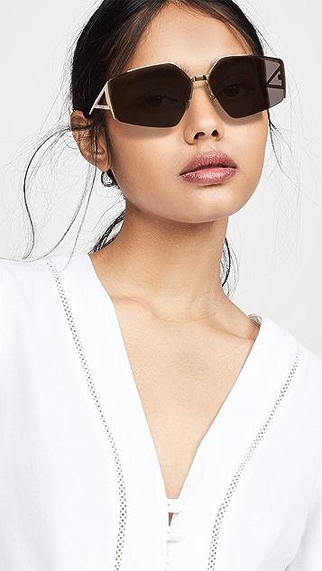 Bottega Veneta 轻质缎带几何太阳镜