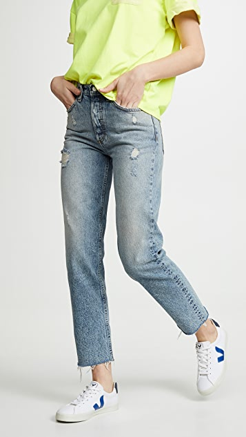 Boyish The Tommy High Rise Rigid Straight Jeans - His Girl Friday
