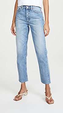 The Tommy High-Rise Rigid Straight Jeans