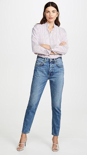 男友风格 Billy 高腰硬朗风格紧身牛仔裤