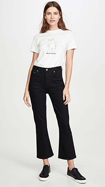 Boyish The Brady High-Rise Comfort Stretch Crop Flare Jeans