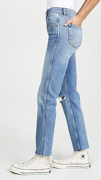Boyish The Dempsey High-Rise Comfort Stretch Straight Leg Jeans