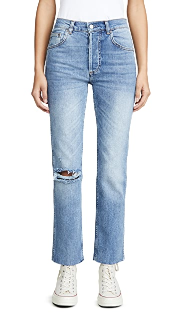 Boyish The Dempsey 高腰舒适弹性直脚牛仔裤