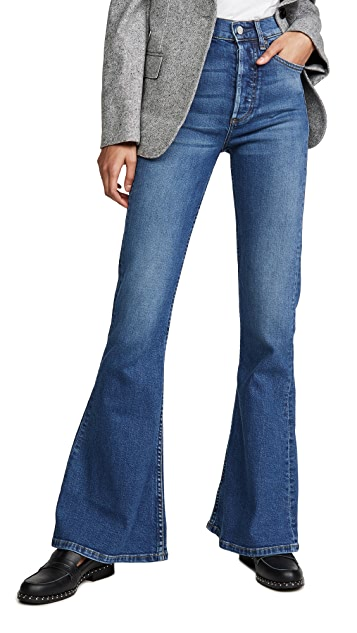 Boyish The Kingsley High Rise Comfort Stretch Flare Jeans