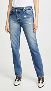 Boyish The Casey High Rise Rigid Straight Jeans