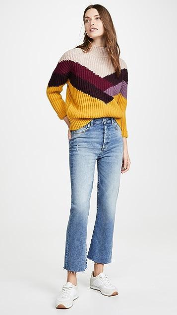 Boyish The Brady High Rise Crop Flare Jeans