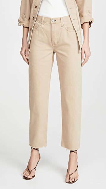 В мальчиковом стиле Жесткие прямые джинсы Tommy с высокой посадкой