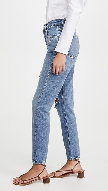 男友风格 The Billy 高腰硬朗风格紧身牛仔裤
