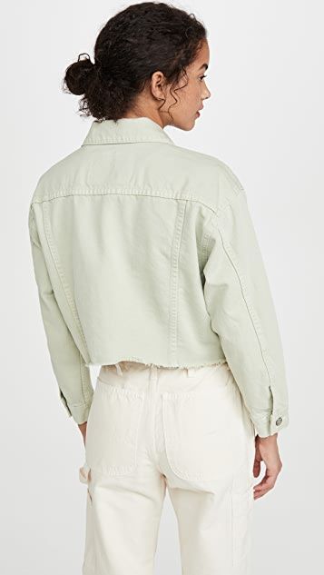 男友风格 The Harvey Rigid 短款超大夹克