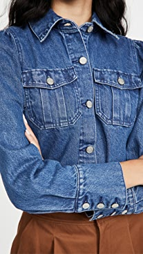 Boyish The Landon Cropped Puff Sleeve Jacket
