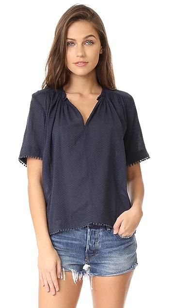 Birds of Paradis Pleat Neck Shirt